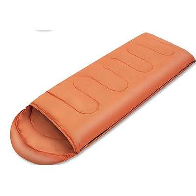 Enveloppe De Plein Air Sac De Couchage Chaud Respirant Facile à Transporter Peut être épissé Camping Randonnée Voyage,Orange-220*75cm