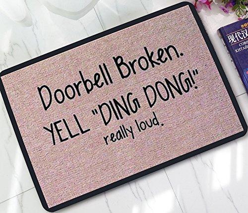 - ChezMax Non-slip Doormat Coral Fleece Indoor Outdoor Kitchen Floor Rug Front Door Mat Funny Flannel Carpet 23.62