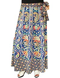 Maple Clothing Womens Printed Long Cotton Wrap Skirt India Apparel