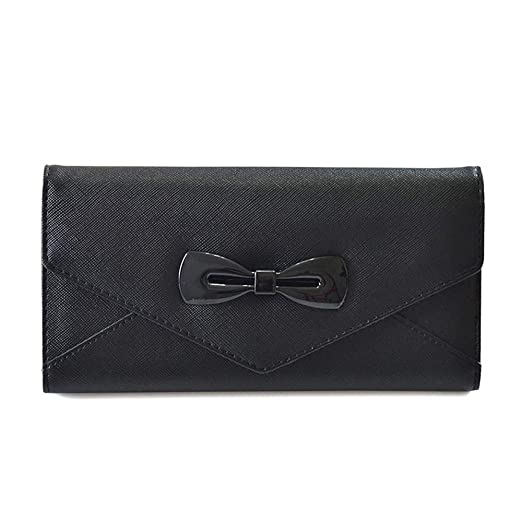 febce5d3967e Amazon.com: WeoHau Fashion Bow Ladies Wallet Purse Multi-Function ...