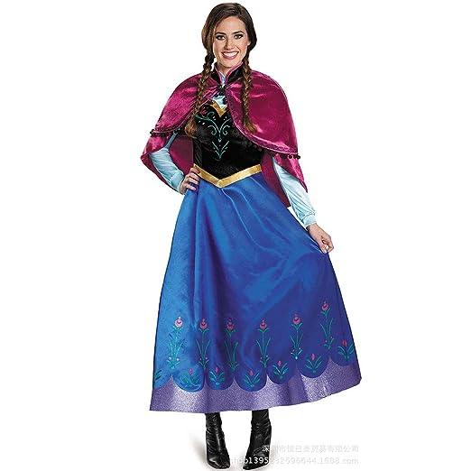 HaoLiao Roleplay Frozen, Anna Aisha Princesa Vestido Adulto ...