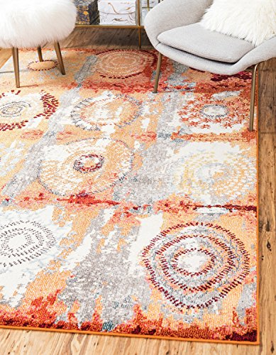 Unique Loom Modern Abstract Estrella Contemporary Area Rug