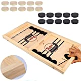 Fast Sling Puck Game Paced,Tinfence Table Desktop Battle,Winner Board Games Toys for Adults Parent-Child Interactive…