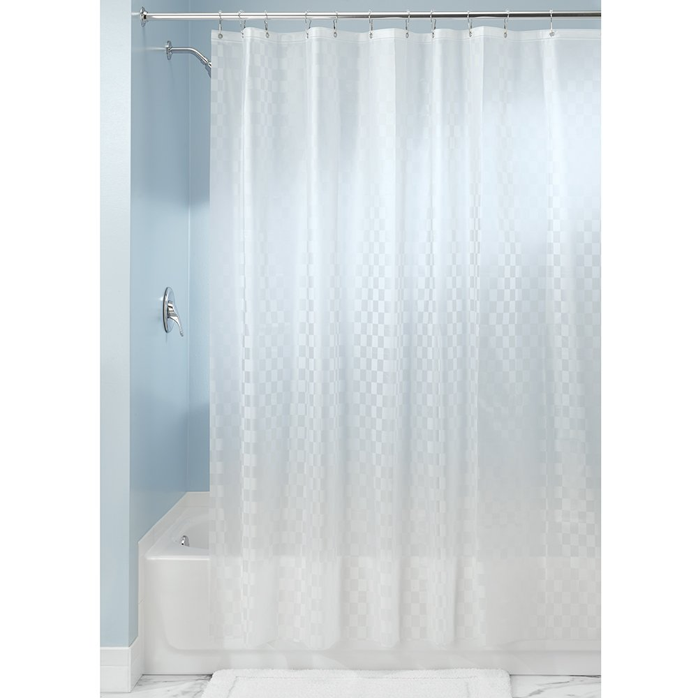 InterDesign Checkers Decorative Shower Curtain-PVC Free, 72 X 72, Clear Inc. 14340