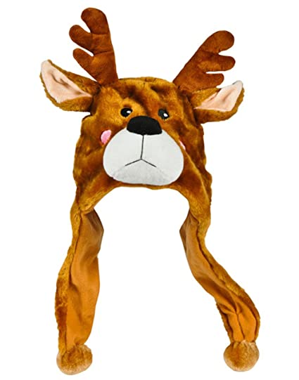 8c42ad416d094 Image Unavailable. Image not available for. Color  Rhode Island Novelty  Plush Reindeer Hat