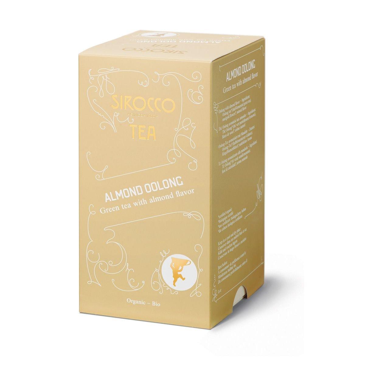 SIROCCO TEA Switzerland - ALMOND OOLONG - 3 x 20 tea bags (60 count) 61LIeVZtQbL