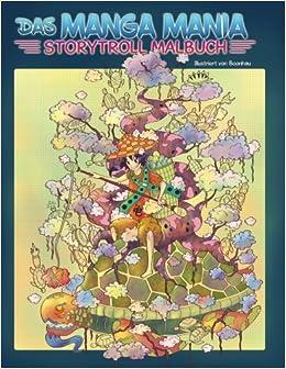 Das Manga Mania Ausmalbuch Malbuch Für Erwachsene Und Kinder