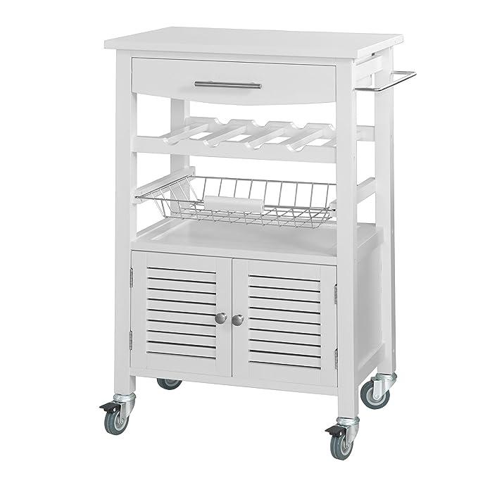 Amazon.de: SoBuy FKW01 ® fkw09-w, Küche Servierwagen, Küche ...