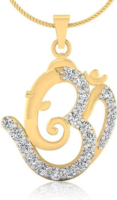 IskiUski 14KT Yellow Gold and Diamond Pendant for Women Women