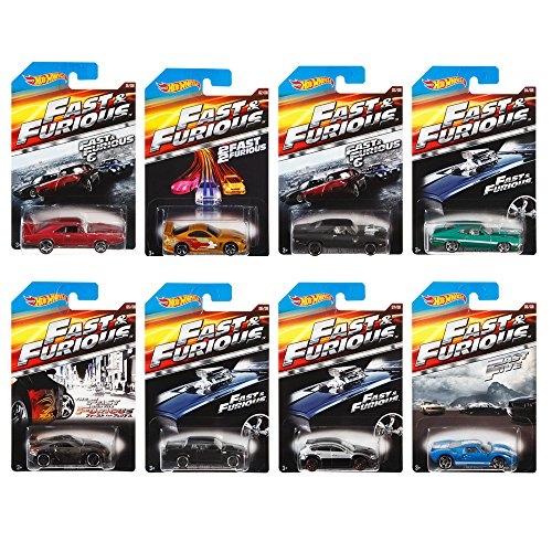 Hot Wheels Fast and Furious Complete Set (set of 8) 1:64 Diecast Collection