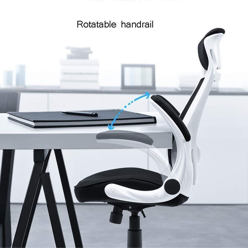 Barstolar Xiuyun kontorsstol, höjdjusterbar ergonomisk datorstol, svängbar stol med hög rygg, skrivbordsstol med vridbart räcke och huvudstöd stol (färg: Stil3) Stil1