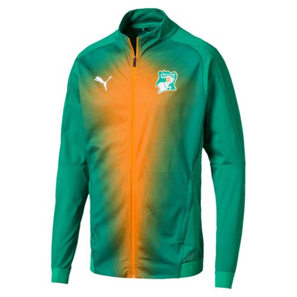 2018-2019 Ivory Coast Puma Stadium Jacket (Pepper Grün)