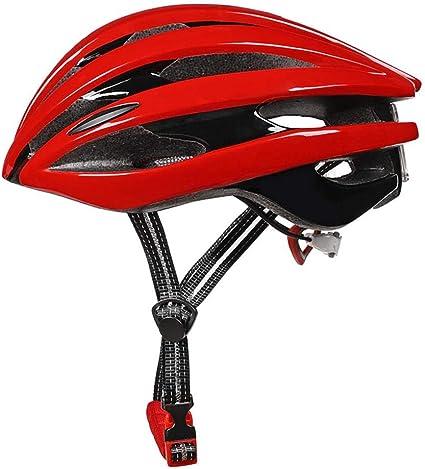 LIUDATOU Cascos de Bicicleta Deportiva con Cola Led luz de Advertencia 56-62 Cm Casco de Bicicleta Casco de Bicicleta Ultraligero Camino Casco de montaña Luz Rojo Tamaño Uno: Amazon.es: Deportes y aire