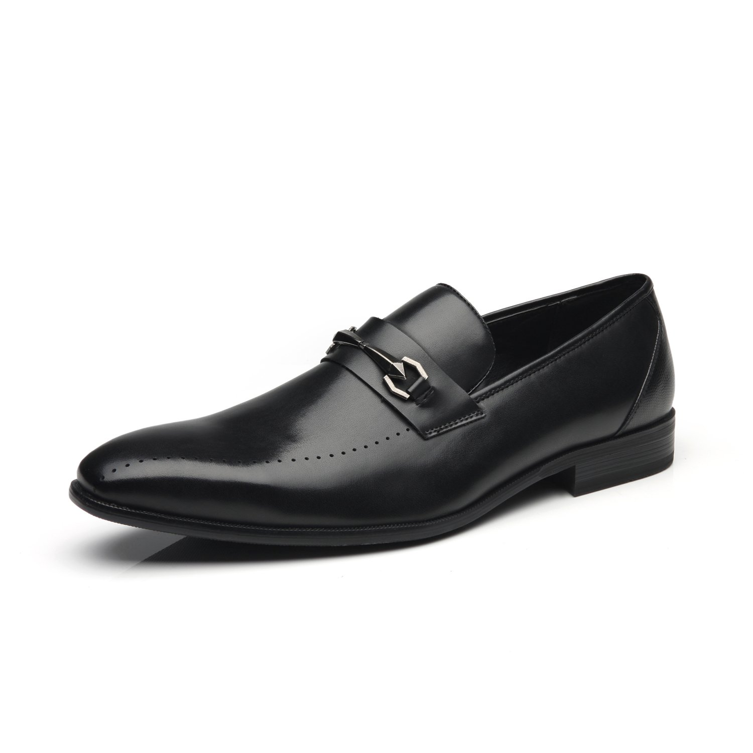 Faranzi Men Dress Shoes Slip On Buckle Loafer Shoes for Men Zapatoe de Hombre Loafer Comfortable Classic Modern Formal Casual Business Shoes