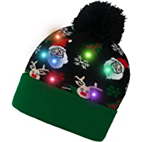 Deals on Yidarton Womens LED Christmas Beanie