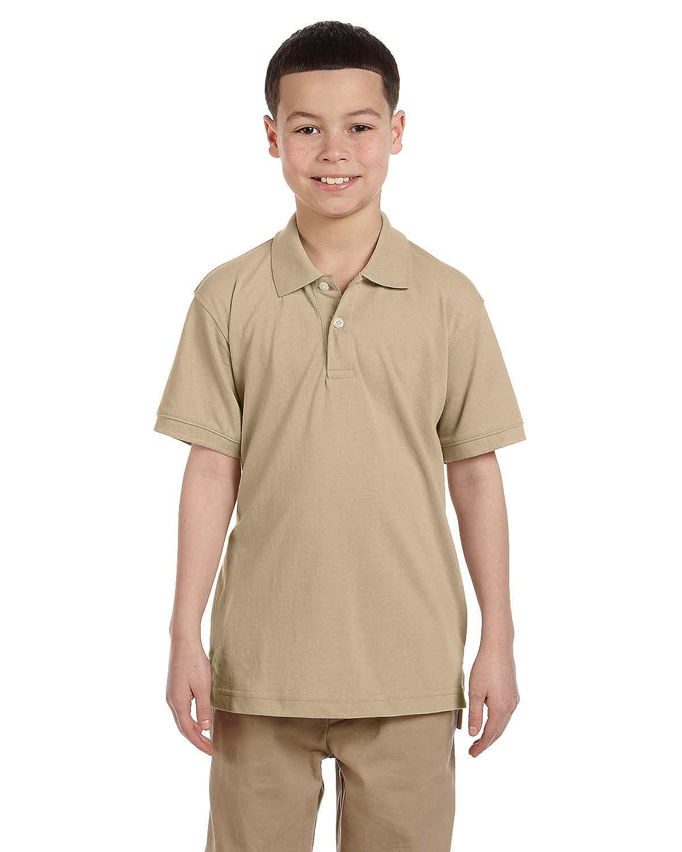 Harriton Big Boys Easy Blend Cotton Pique Polo Shirt M265Y