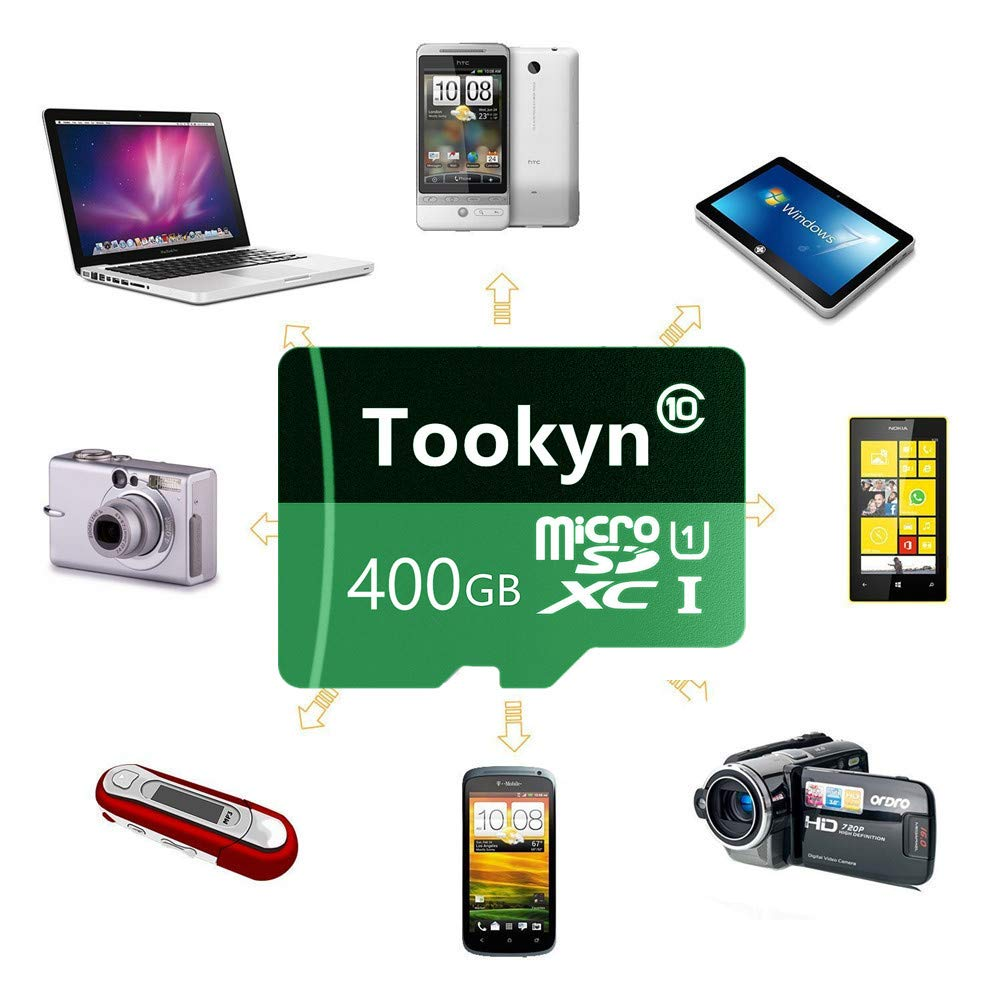 microSDXC 400GB Class 10 Speicherkarte 400 GB Tookyn Micro SD Karte 400GB Adapter TF70-T3RH