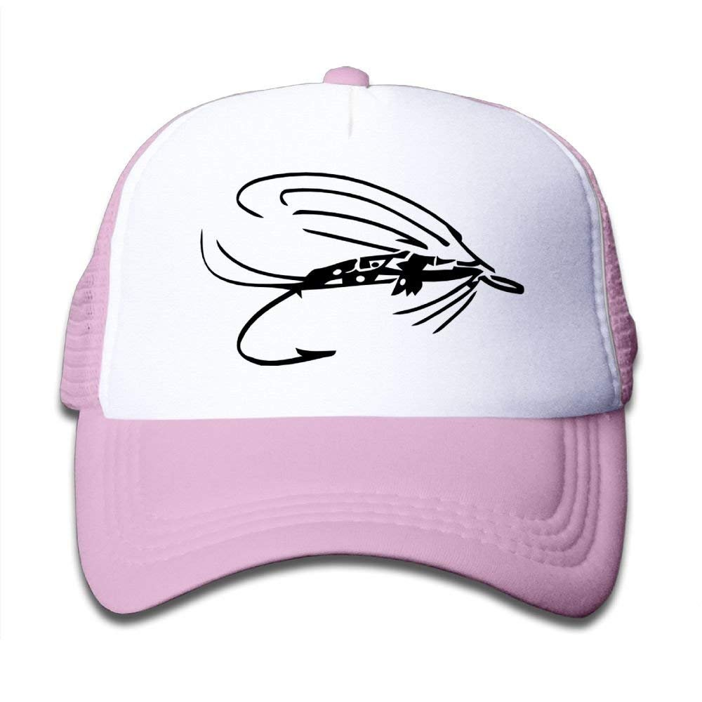 Fly Fishing Lure 1 Kids Cotton Adjustable Mesh Baseball Hats
