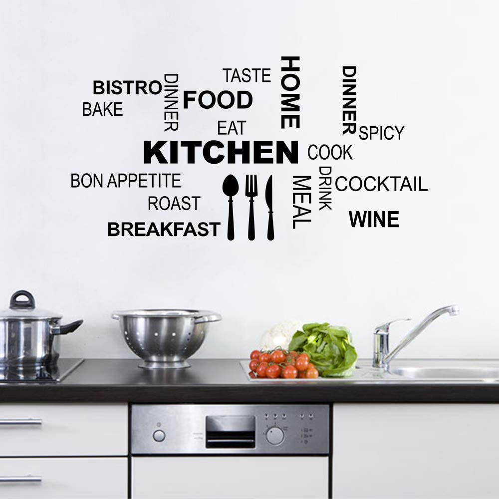 Bon Appetit Kitchen Chef Wall Quote Home Decor Decal J49