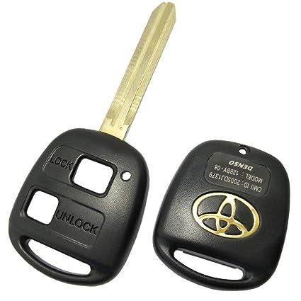 2 Botón de repuesto remoto clave carcasa de repuesto de ...