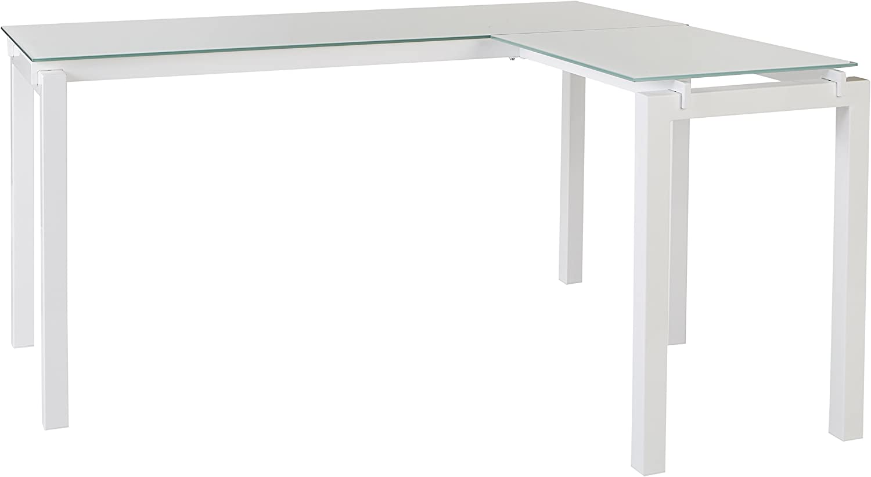 Ashley Furniture Signature Design – Baraga Collection Home Office Desk, 61 , White