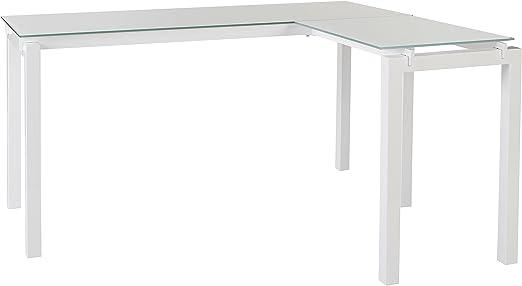 Amazon.com: Signature Design by Ashley Baraga L-Desk White ...