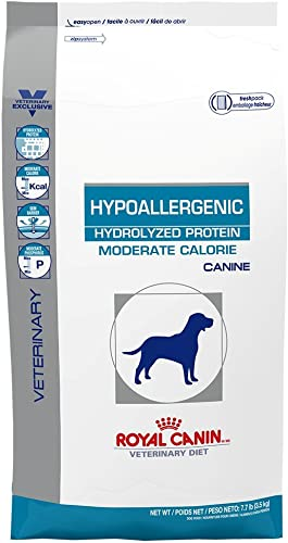 Royal Canin Veterinary Diet Canine Hypoallergenic Moderate Calorie Dry Dog Food 7.7 lb bag