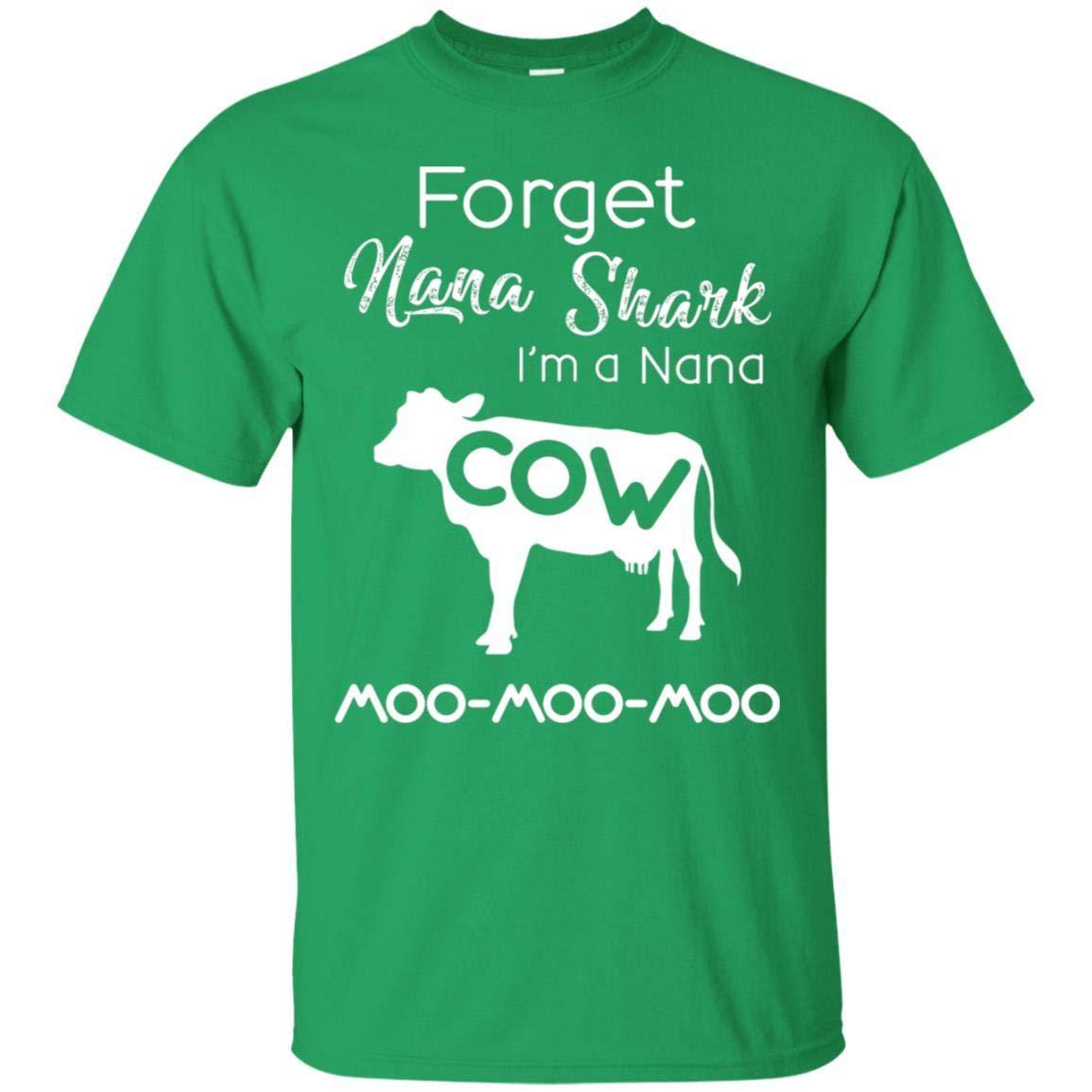 TeeAbelia Forget Nana Shark Im A Nana Cow Shirt
