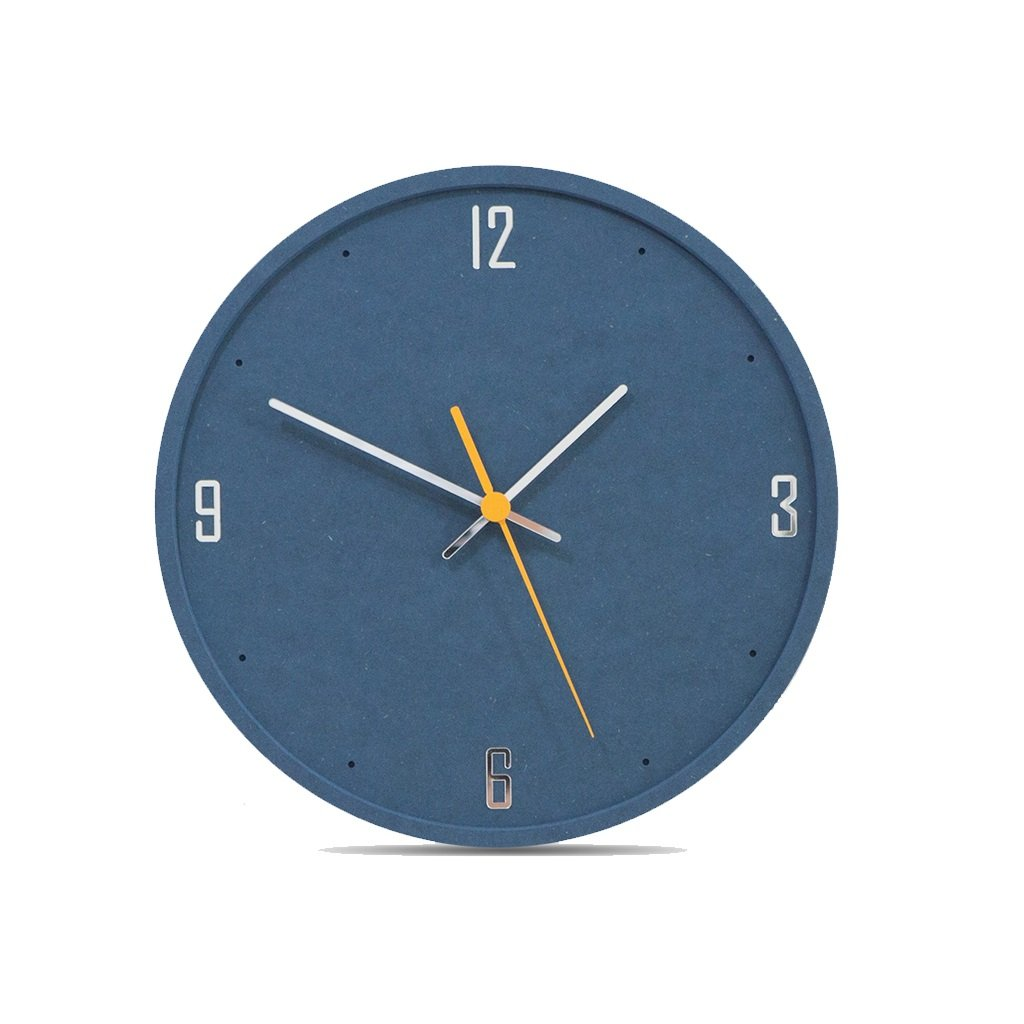 LINGZHIGAN 12インチウォールクロックファッショントレンドクリエイティブ壁掛け時計モダンなベッドルームホームクォーツ時計ミュートピュアカラー (色 : Blue) B07FDVTG68