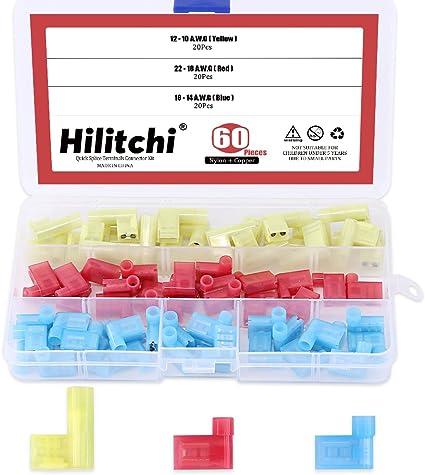 Pack of 90 Premium Quick Splice Connector Plastic Terminals Set Kit