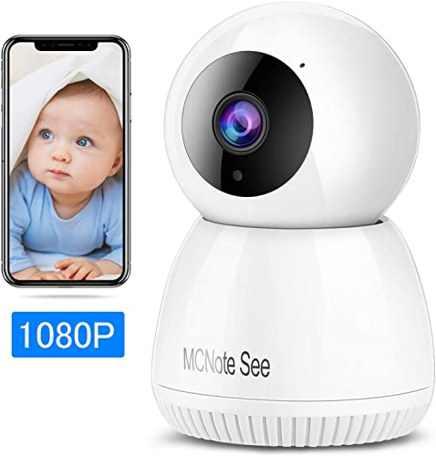 Security Camera,2k Video quqlity,300MP,Night Vision,Motion Detection,Baby Monitor,Wireless Home Surveillance Camera,Cloud Service Vision Motion Detect for Home Shop Office White