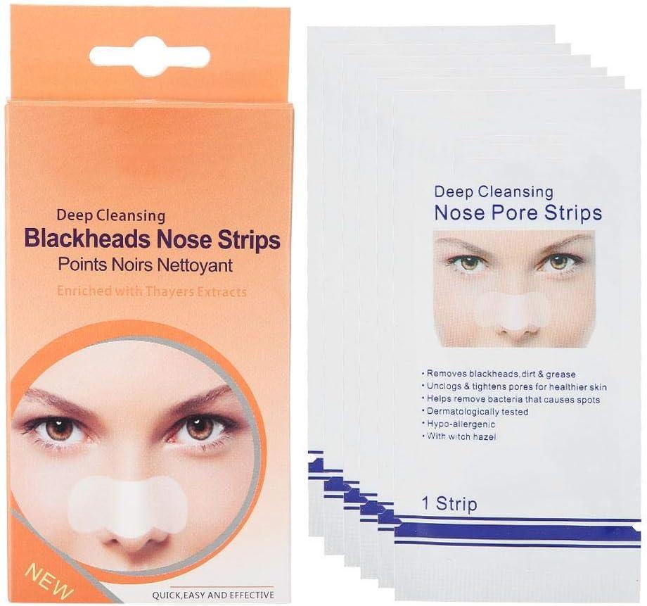 6 tiras nasales para limpieza profunda de poros y puntos negros, máscara para eliminar el acné, cuidado de la piel, máscara para la nariz