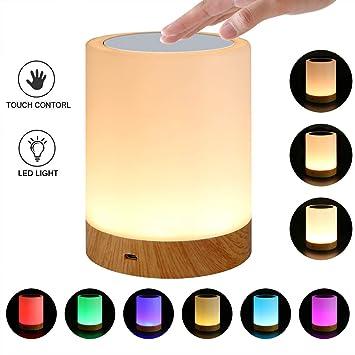 TactileDimmable Chevet Lampe De Del Sensor Capteur Rqinw Veilleuse TJK3F1cul5