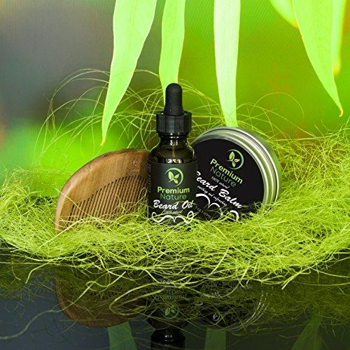Beard Grooming Kit Gift for Him – for Mustache & Beard Growth – Soften Soothe & Moisturize Skin & Hair – Castor Jojoba Almond & More Essential Oils – Premium Nature