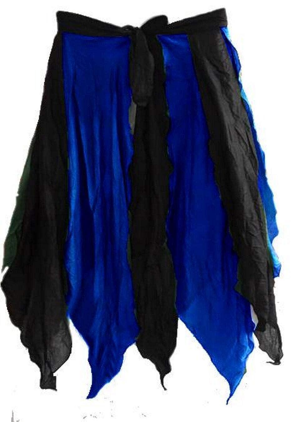 RENAISSANCE COSTUME MEDIEVAL DRESS-UP BELLYDANCE FAIRY TRIBAL COTTON PETAL SKIRT