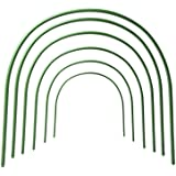 "F.O.T 6Pcs(25.6"" x 23.6"") Greenhouse Hoops,Plant Support Garden Stakes, Rust-Free Grow Tunnel 4.9ft Long Steel with…"