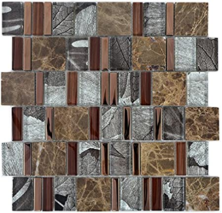 Mosaik - Carrelage translucide - Beige/marron - Multiformat ...