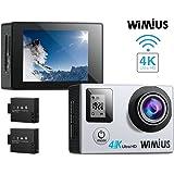 Action Camera 4K Dual Screen 16MP WIFI Sports Waterproof Camera WIMIUS Q4 (Silver)