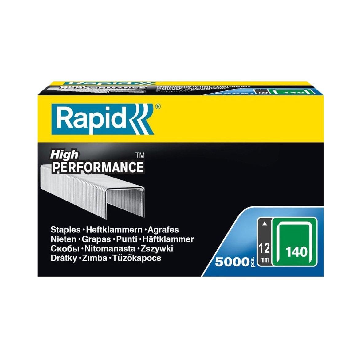 Rapid, 11915611, Agrafes N°140, Longueur 14mm, 5000 pièces, Pour les travaux de construction et d'isolation, Fil galvanisé, Haute performance