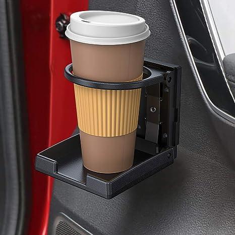 Universal Auto Getr/änkehalter Klappbar Einstellbare Flaschenhalter Autotassenhalter Auto Becherhalter Kunststoff 3.94 X 3.74 X 1.10 In Schwarz