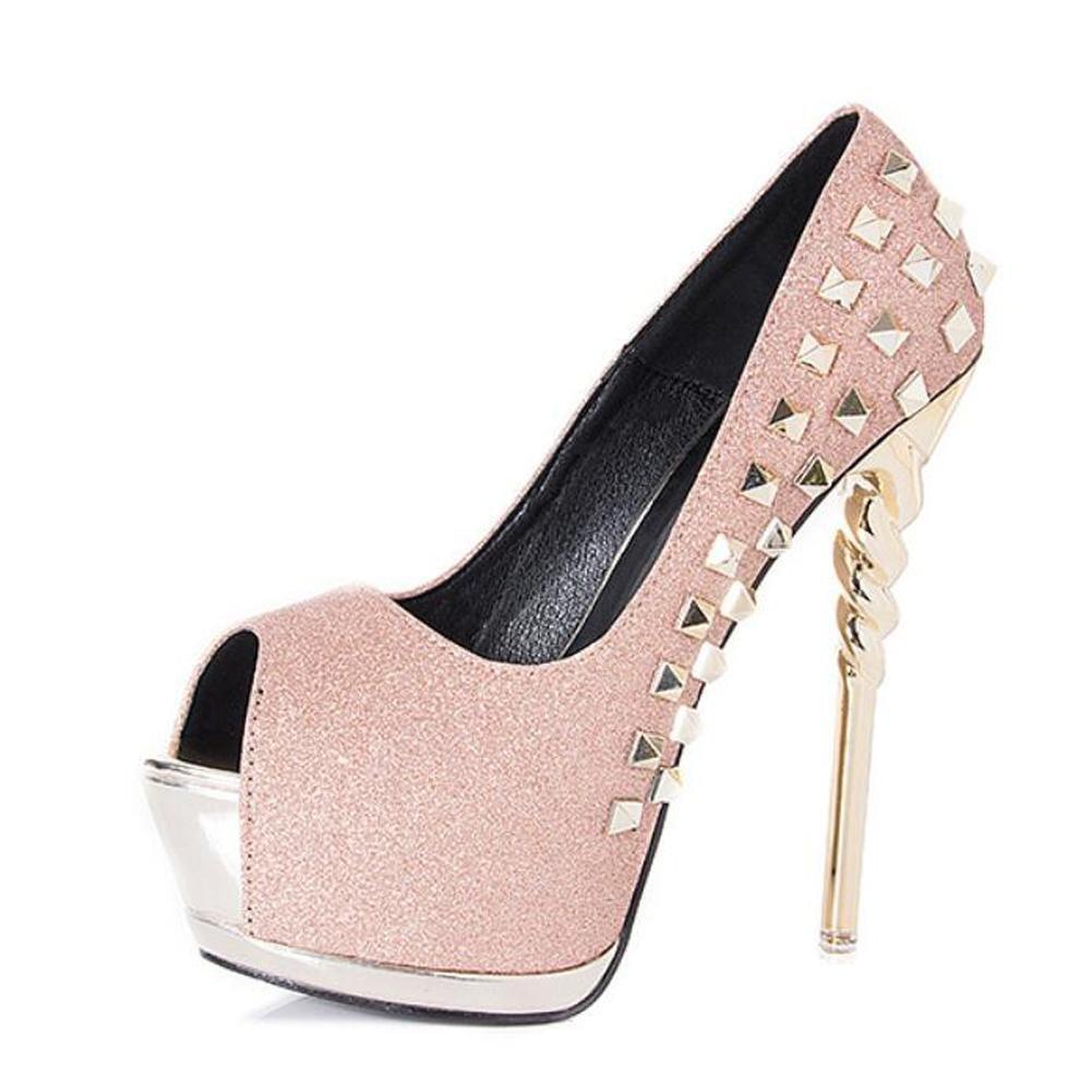 Femmes Hauts pink Talons B002MPEER6 De Poisson Prom Bouche éTanche Taiwan Nuit Shop Prom Rivet 14 Chaussures à Talons Fins pink a2d7628 - gis9ma7le.space