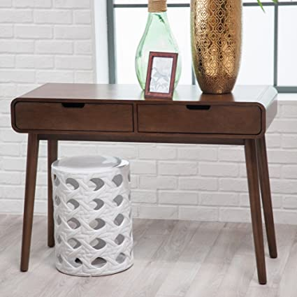 Amazon Com Belham Living Carter Mid Century Modern Console Table