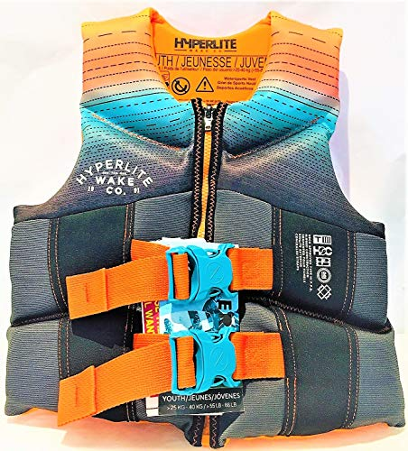 (Hyperlite Wake Co Life Vest - Youth 55-88 lbs.USCG/TC Approved -)