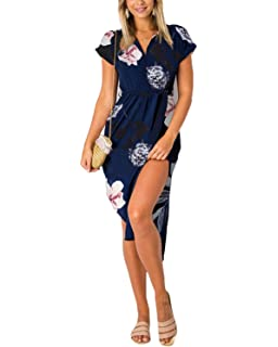 ee5a1d7850835e YOINS Sommerkleid Damen Lang V-Ausschnitt Maxikleider für Damen Kleider  Strandkleid Strandmode