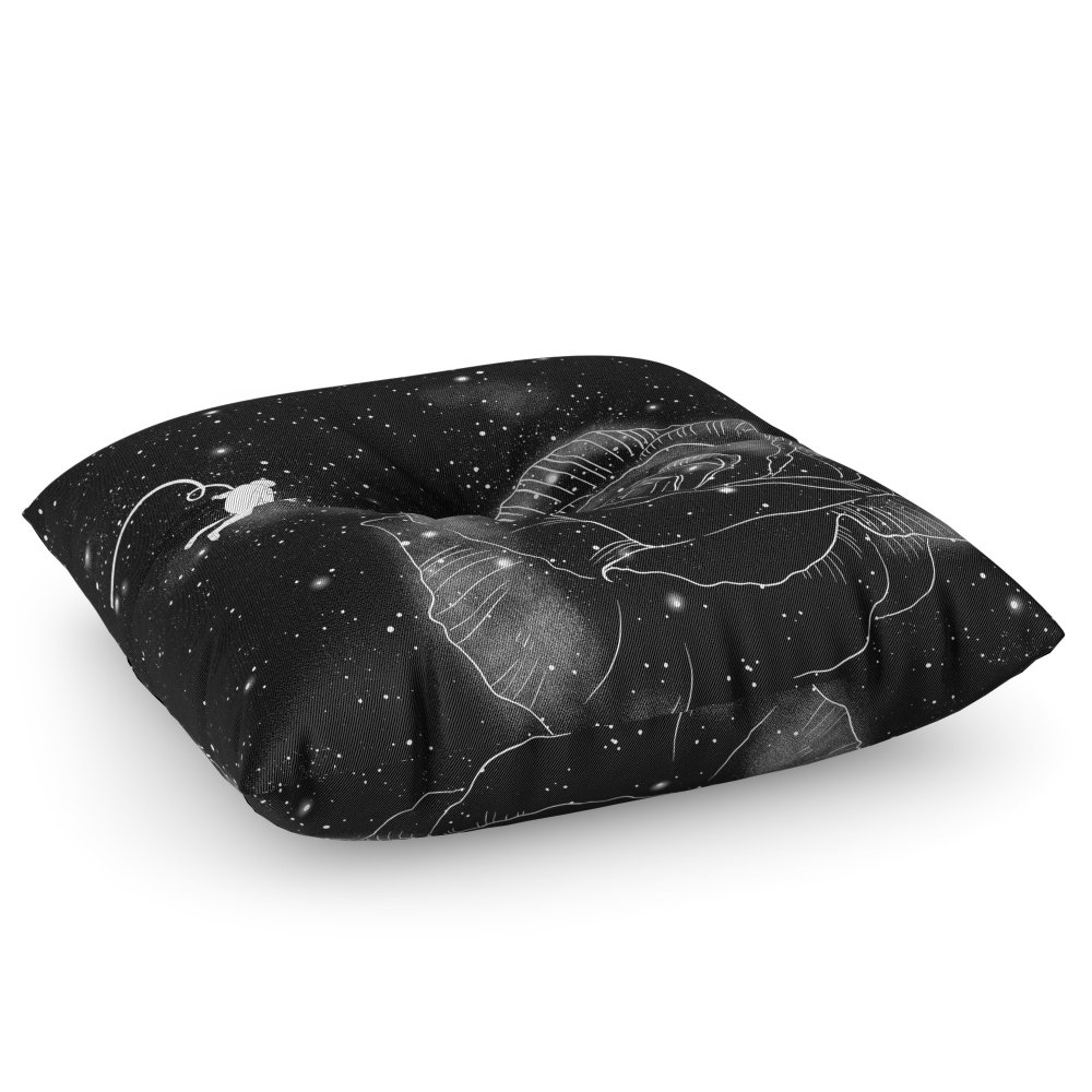 Society6 Rose In Space Floor Pillow Square 26'' x 26''