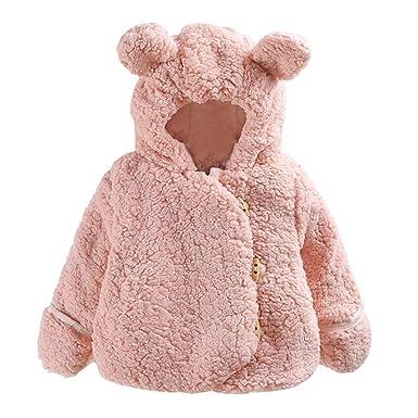 Amazon.com: Aivtalk - Chaqueta con capucha para bebé, cálida ...