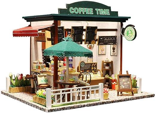 Morningtime DIY Miniatura Casa De Muñecas con Muebles, Dollhouse ...
