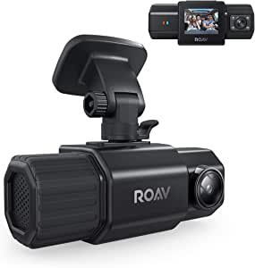 Anker Roav Dual Dash Cam Duo, Dual FHD 1080p Dash Cam for Uber, Front & Interior Wide Angle Car Cameras, Dual Sony Sensors, IR Night Vision, GPS, G-Sensor, Loop-Recording & Parking Mode (No Wi-Fi)