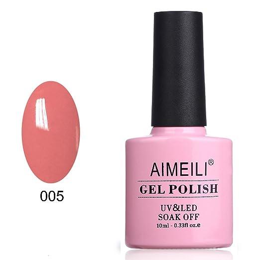 6 opinioni per AIMEILI Soak Off UV LED Smalto in Gel- Rose Bud (005) 10ml