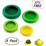 Sanvan 4 pcs Silicone Four Sizes Silicone Caps,Food Storage,Food Saver,Fruit and Vegetable Storage Containers,Random Color